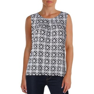 Kasper Womens Casual Top Pleated Printed (2 options available)