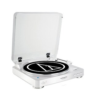 Audio Technica AT-LP60WH-BT Bluetooth Wireless Belt-Drive Stereo Turntable White