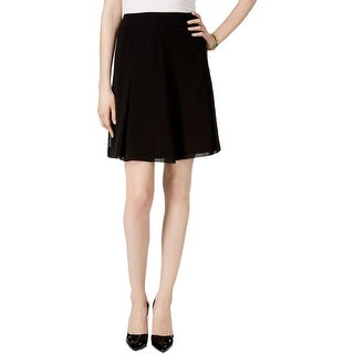 Anne Klein Womens Flare Skirt Polyester Pleated
