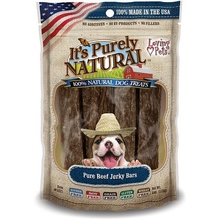 It's Purely Natural Treats 4oz-Beef Jerky Bars