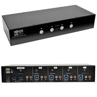 Tripp Lite 4-Port Displayport Kvm Switch With Audio, Cables & Usb 3.0 Hub (B004-Dpua4-K)
