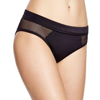 DKNY Swim Womens Solid Mesh Swim Bottom Separates