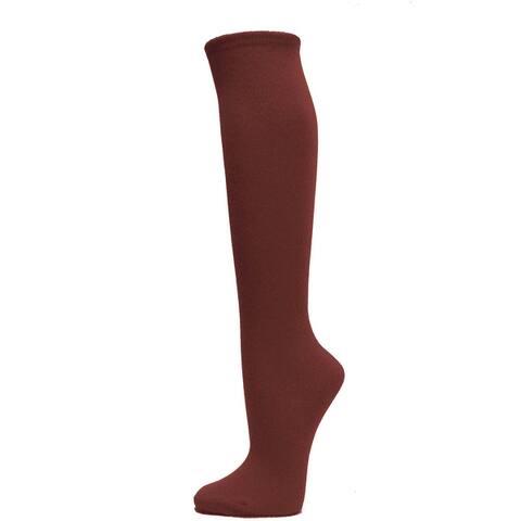 Women Cotton Solid Knee High Socks Costume Thigh Stocking Socks 1 Pair