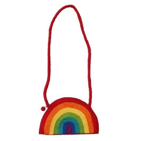 Handmade Felt Rainbow Shoulder Bag (Nepal)