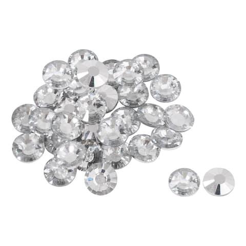 32pcs Furniture Tack Nails 25mm Dia Round Head Diamond Shape Glass DIY Sofa Buttons Headboard Crafts Decorative