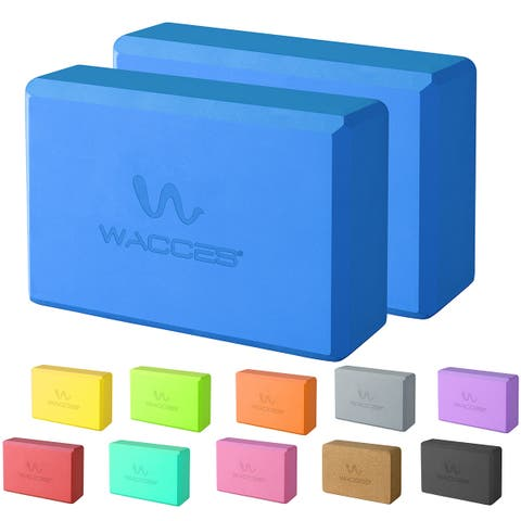 Wacces Exercise Fitness Yoga Block Set Eco Friendly Set of 2
