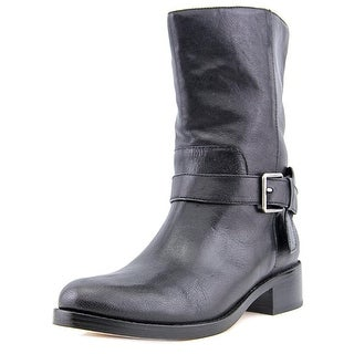 Cole Haan Briarcliff Mid Boot Round Toe Leather Mid Calf Boot