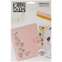 Carpe Diem Large Planner Decals-Floating Hearts