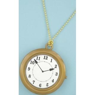 Oversized Rapper's Clock Costume Necklace