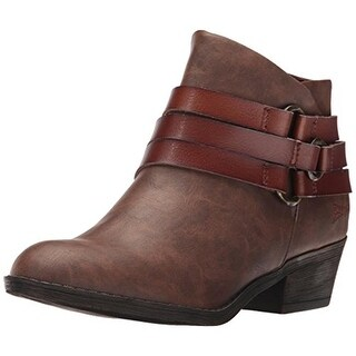 Blowfish Womens Sanger Ankle Boots Faux Leather Belted