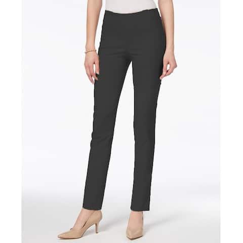 Charter Club Women's Tummy Control Pull On Skinny Pants Greystone Heather Size 10 - Grey