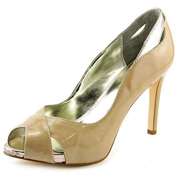 Alfani Lyrra Women Peep-Toe Synthetic Nude Heels