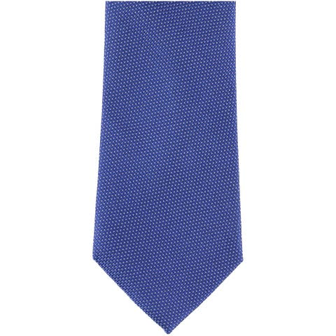 Club Room Mens Dotted Self-tied Necktie, blue, One Size - One Size