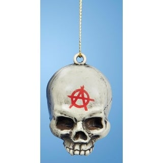 """2.25"""" Sons of Anarchy Gray Skull Decorative Christmas Ornament"""