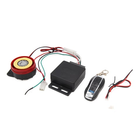 315MHz Round Remote Control Anti-theft Alarm Security System Set for Motorcycle
