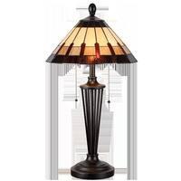 Kenroy Home 32717BRZ Harmond Tiffany Table Lamp
