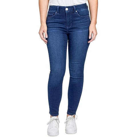 Seven7 High Waisted Body Shaper Stretch Skinny Jeans Sculpts & Contours