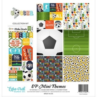 "Echo Park Collection Kit 12""X12""-Soccer"