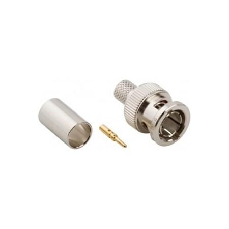 Amphenol RF BNC Straight Crimp Plug for RG-6 75 Ohm