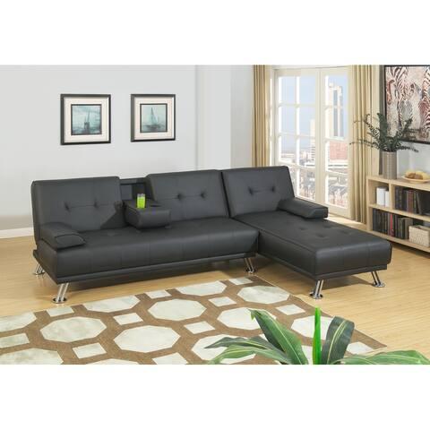 Futon Adjustable Sofa with Chaise