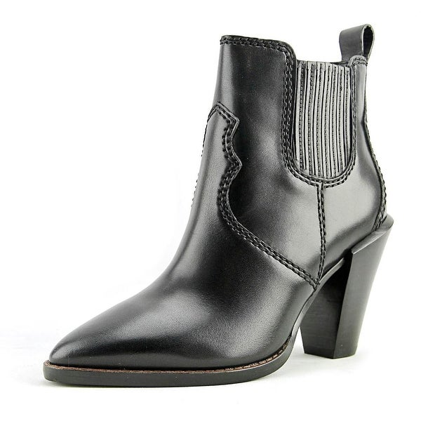 Coach Westyn Women Pointed Toe Leather Black Bootie