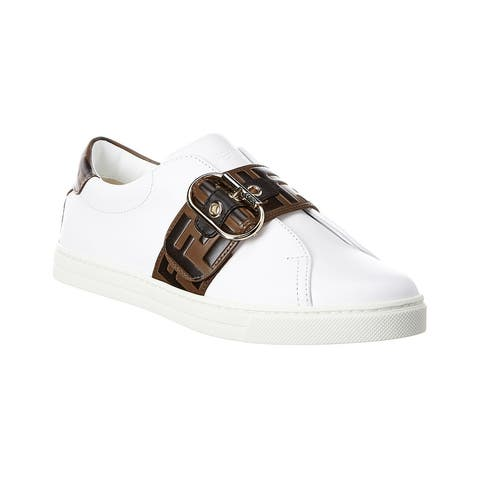 Fendi Iconic Ff Band Leather Sneaker