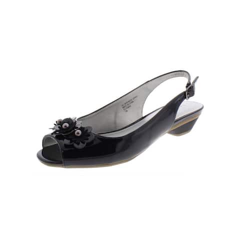 Karen Scott Womens Irmaa Slingback Heels Embellished