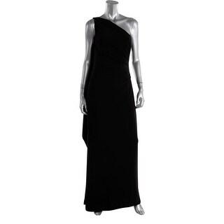 Lauren Ralph Lauren Womens Matte Jersey Side Slit Evening Dress