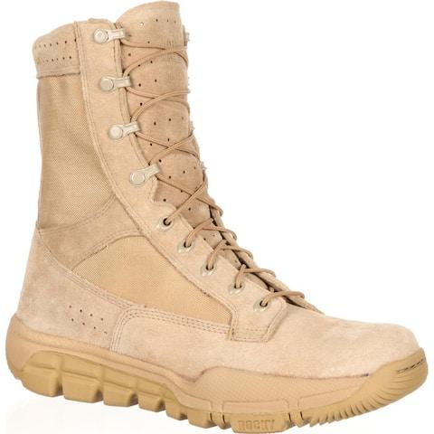 Rocky: Lightweight Desert Tan Commercial Military Boots