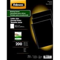 Fellowes Linen-Textured Binding Cover, Letter, Black, Pack of 200