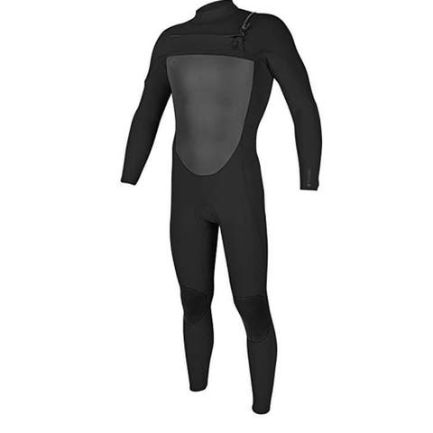 O'Neill Men's O'Riginal 3/2 mm Chest Zip Full Wetsuit, Black/Black, Medium Tall