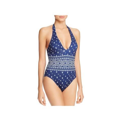 Splendid Womens Stretch Printed One-Piece Swimsuit