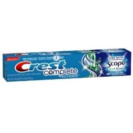 Crest Complete Multi-Benefit Toothpaste Extra White + Scope Dual-Blast Fresh Mint Blast 5.80 oz