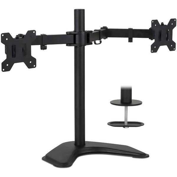 """Mount-It! Dual Monitor Stand for 17""""-32"""" Inch Screens. Opens flyout."""