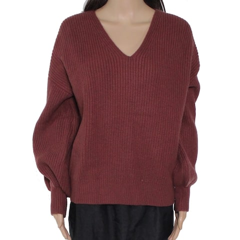 Madewell Womens Sweater Brown Size Large L Knit Long Sleeve V-Neck Wool
