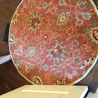Hand-Tufted Patchway Wool Rug (4' Round)