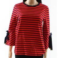 Lauren by Ralph Lauren Women's Small Striped Knit Top