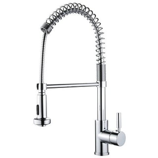 Miseno MK281 Cardini Commercial Style Pre-Rinse Kitchen Faucet - Stainless Steel