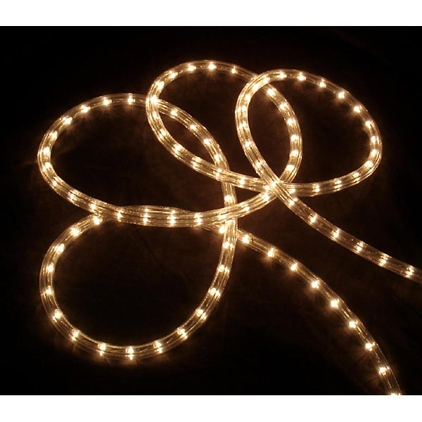 "18' Clear Indoor/Outdoor Christmas Rope Lights - 1"" Bulb Spacing"
