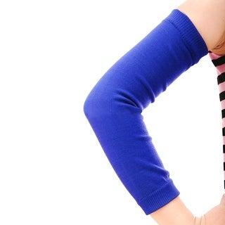 Unique Bargains Anti Slip Elastic Sport Skins Arm Sleeves Sun UV Guard Protector Gear Cover Blue