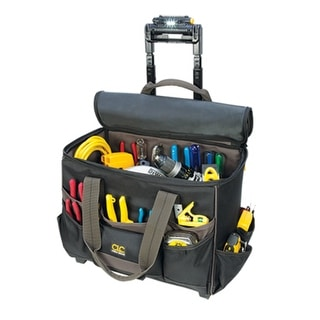 CLC L258 TechGear Lighted Handle Roller Tool Bag, 17""
