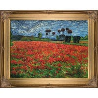 Field of Poppies by Vincent Van Gogh Framed Hand Painted Oil on Canvas