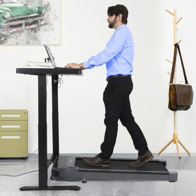 Gamma Under Desk Walking Treadmill, LED & Remote, 0.5-4MPH