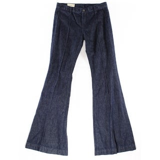 Polo Ralph Lauren NEW Dark Women's Size 32X34 Seamed Boot Cut Jeans