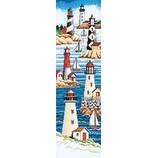 """6""""X21"""" 14 Count - Lighthouses Counted Cross Stitch Kit"""