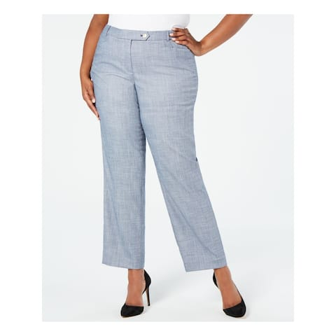 CALVIN KLEIN Womens Blue Wear To Work Pants Size 14W