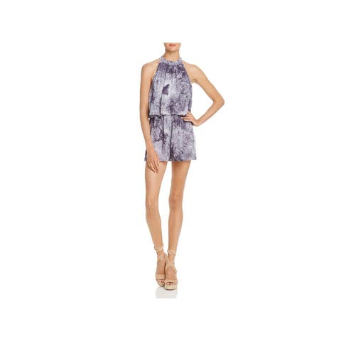 Sadie & Sage Womens Aster Romper Tiered Embroidered