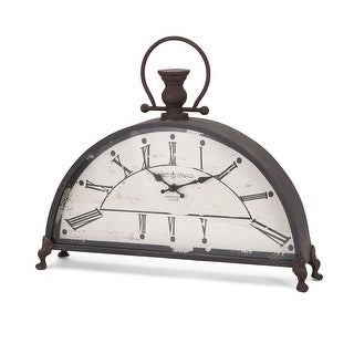 "IMAX Home 88900  17-3/4"" x 20-3/4"" Newton Analog Desk Clock - Gray"