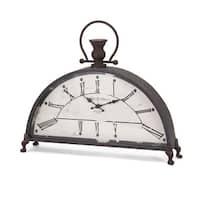 "IMAX Home 88900  17-3/4"" x 20-3/4"" Newton Analog Desk Clock - Gray"