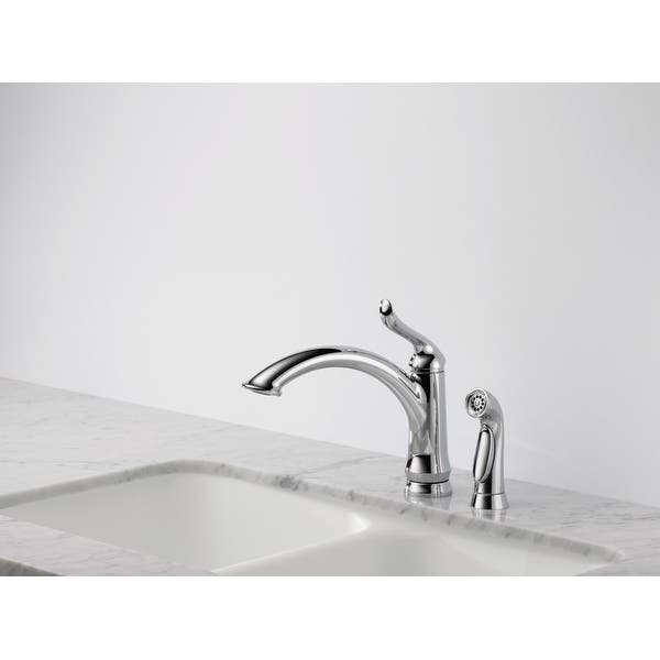 Shop Delta 4453-DST Linden Kitchen Faucet with Side Spray ...